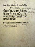 Klassisches Titelblatt aus der Inkunabelzeit